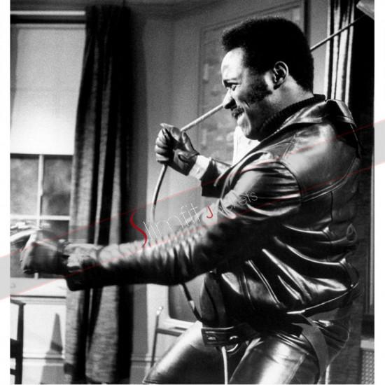 John Shaft Richard Roundtree  Leather Jacket