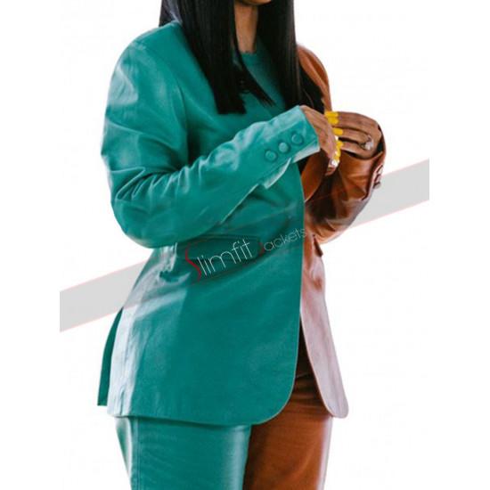 Vogue Fashion Magazine Cardi B Jacket Suit Coat Pants