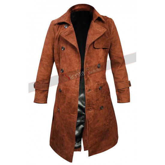 Lucifer Lauren German Brown Leather Coat