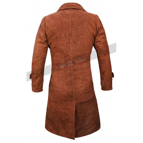 Lucifer Lauren German Brown Leather Coat