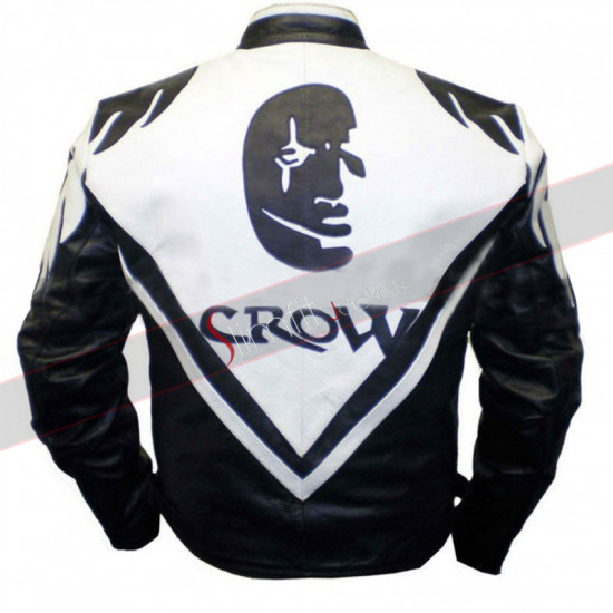 Men's The Crown Motorcycle Leather Jacket