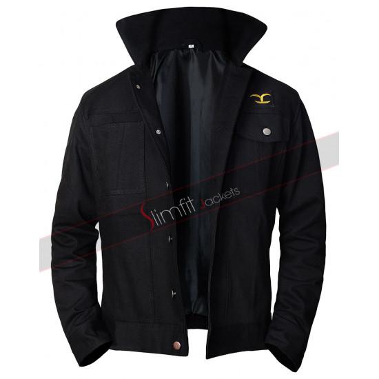 Yellowstone Cole Hauser Rip Wheeler Black Jacket