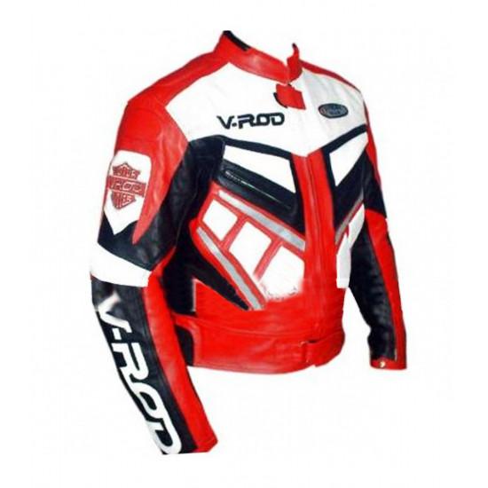 V Rod Men's Motorcycle Leather Jacket