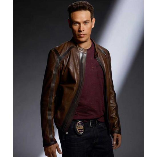 TV Series Lucifer Dan Espinoza Brown Jacket