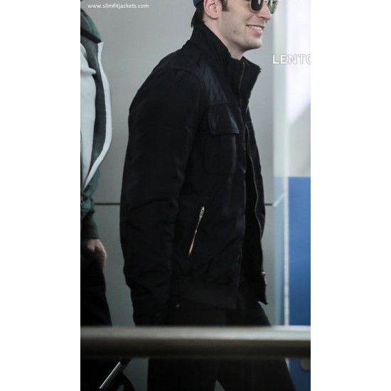 Avengers 2 Chris Evans Black Jacket