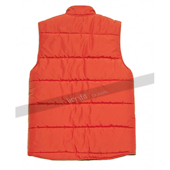 BTTF Back To The Future 2 Marty Mcfly Red Puffer Vest
