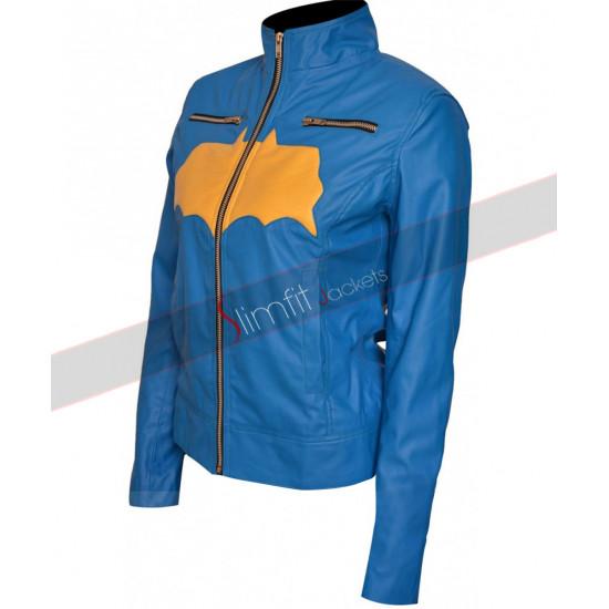 Batgirl Blue Jacket Leather Costume