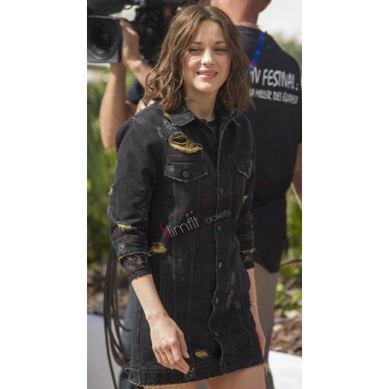 Cannes 2016 Marion Cotillard Black Denim Jacket