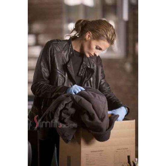 Castle Kate Beckett Black Leather Jacket