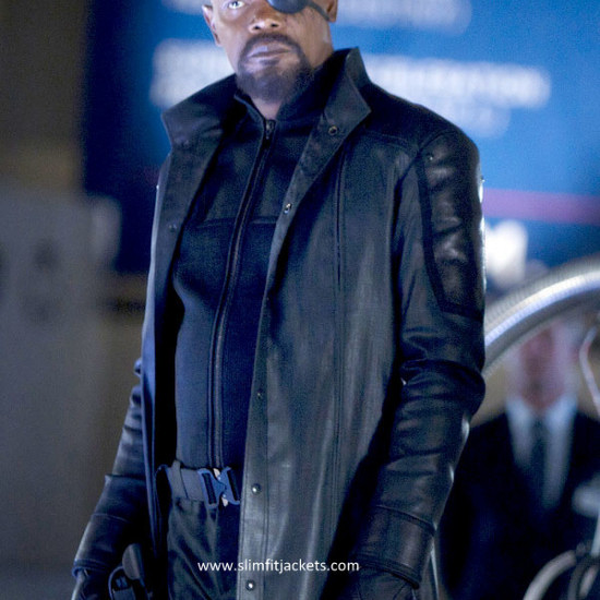 Captain America Avengers Nick Fury Trench Coat