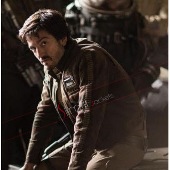 Star Wars Captain Cassian Andor Brown Jacket