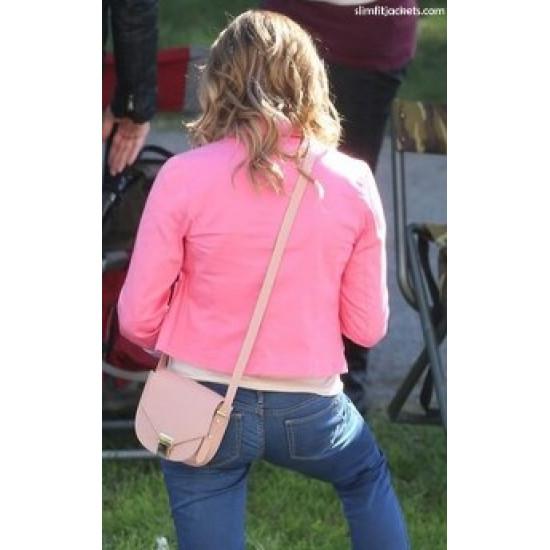 Burying the Ex Evelyn (Ashley Greene) Pink Jacket