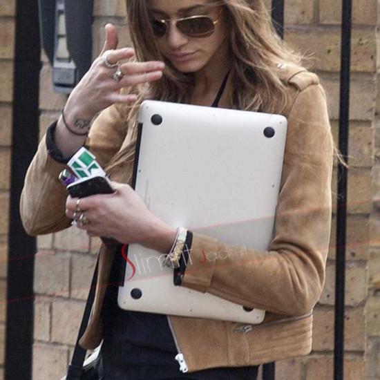 Eleanor Calder Brown Slim Fit Designer Jacket