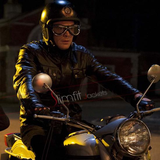 Mortdecai Paul Bettany (Jock Strapp) Black Biker Jacket