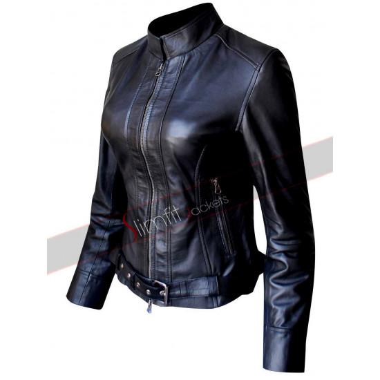 Sons.of.Anarchy Katey Sagal Biker Black Leather Jacket