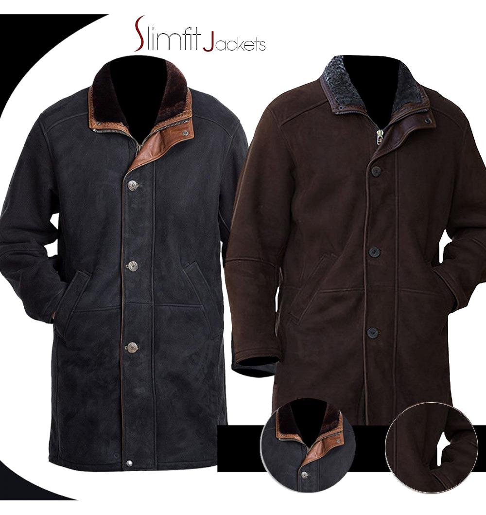 3e9eb8b1b45 Walt Longmire Sheriff (Robert Taylor) Trench Coat Jacket