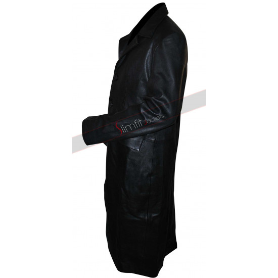 Angel David Boreanaz Black Long Jacket/Coat