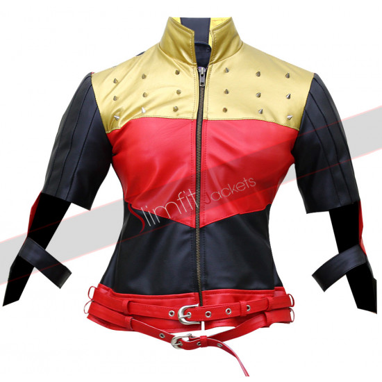 Harley Quinn Injustice Gods Among Us Kiss This Leather Jacket
