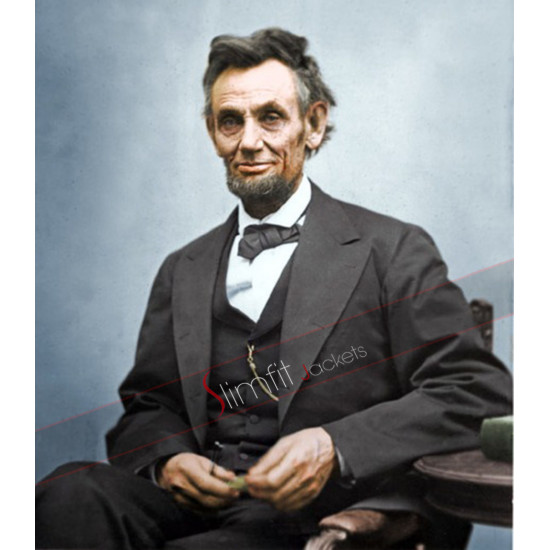 Abraham Lincoln Black Long Coat
