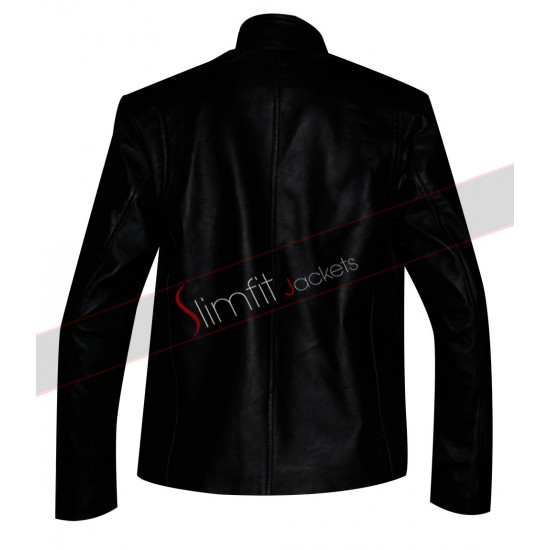 Captain America: The Winter Soldier Blue Leather Jacket