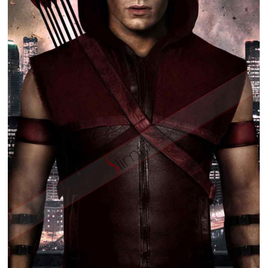 Arrow Roy Harper (Colton Haynes) Leather Vest