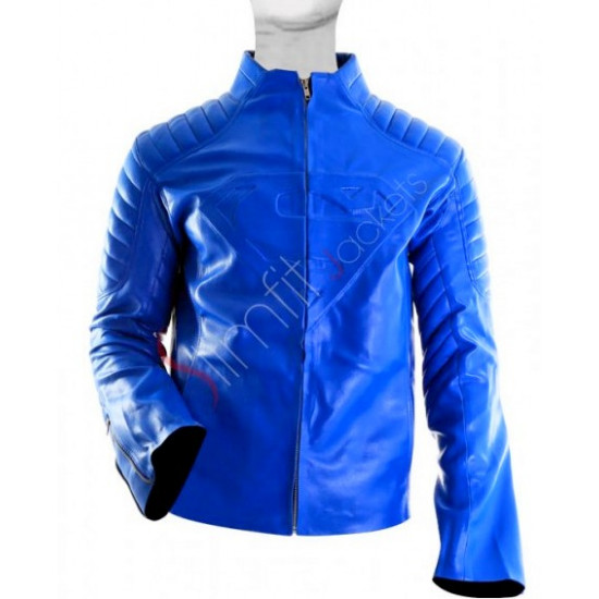 Superman Smallville Blue Leather Jacket