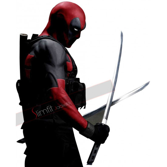 Deadpool Ryan Reynolds Full Zip Cosplay Costume Hooded Jacket