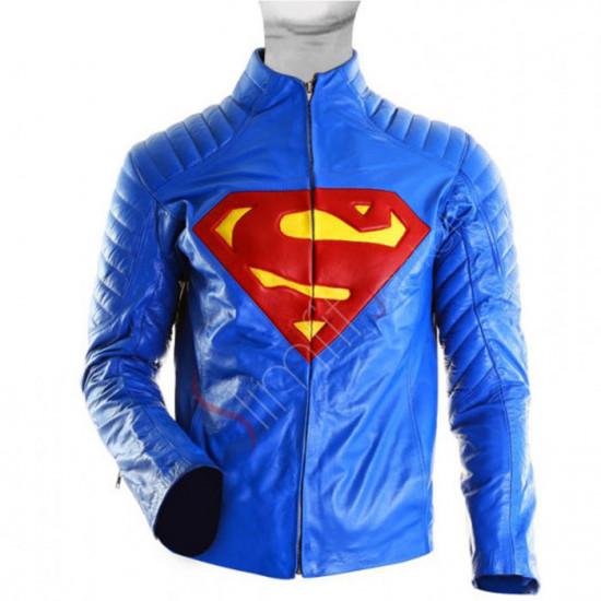 Superman Man of Steel Leather Jacket Sale