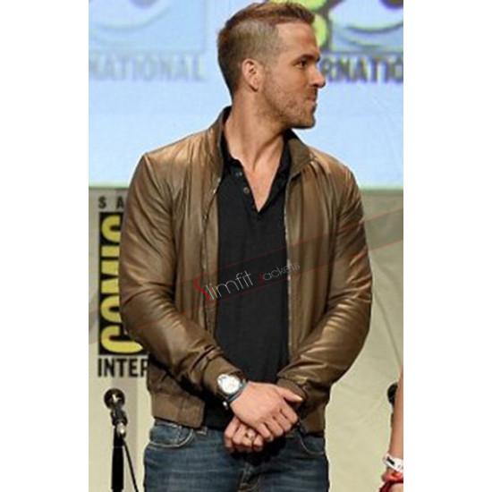 Ryan Reynolds Deadpool Comic Con Leather Jacket