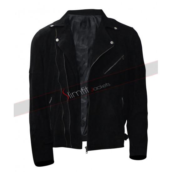 Jon Hamm Baby Driver Buddy Black Jacket