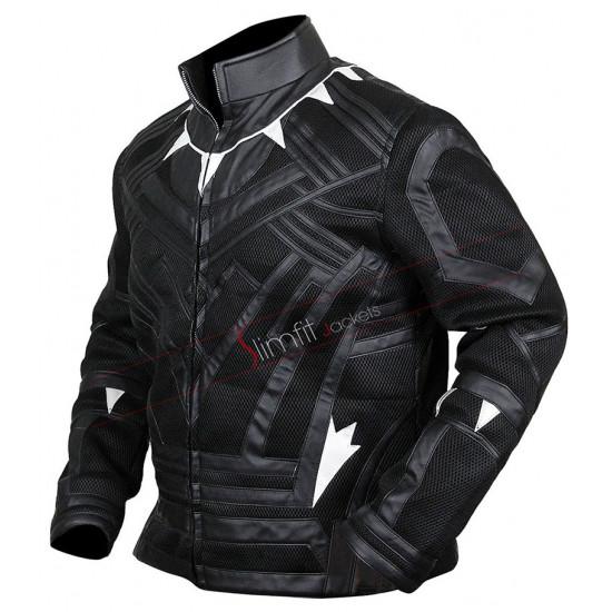 Black Panther Avengers Infinity War Chadwisk Boseman Costume Leather Jacket