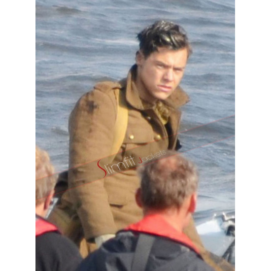 Alex Dunkirk Harry Styles Soldier Brown Jacket