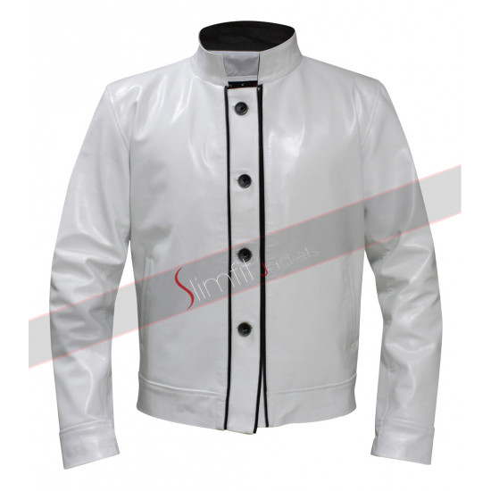Hangover 3 Mr.Chow White Leather Jacket