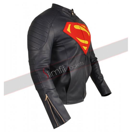 Man of Steel Blue Superman Faux Jacket Sale