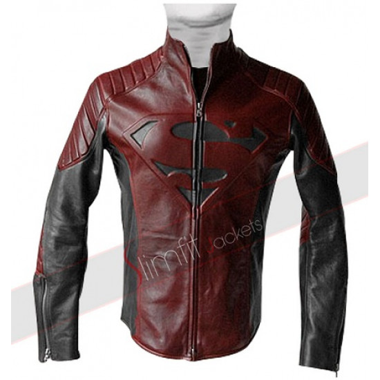 Stylish New Superman Maroon & Black Jacket