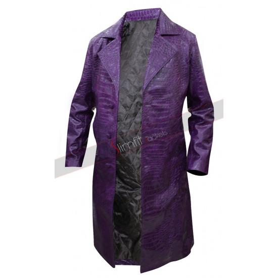 Suicide Squad Jared Leto (Joker) Purple Trench Coat