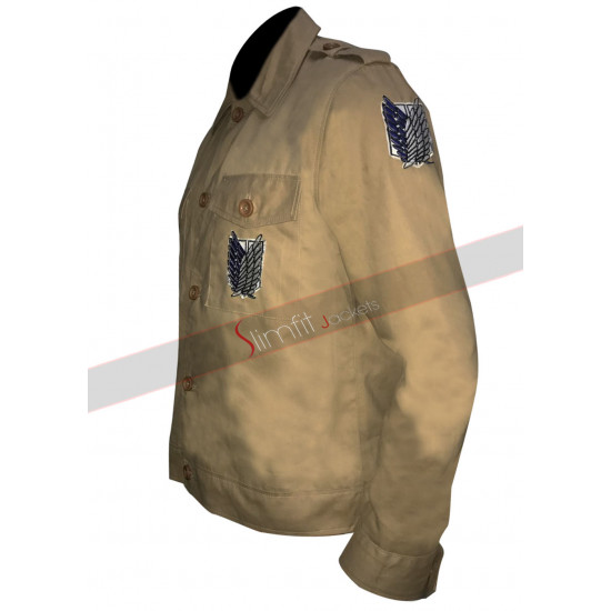 Attack on Titan Shingeki No Kyojin Military Cosplay Jacket
