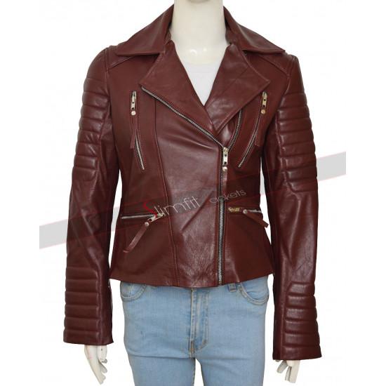 Brooklyn 99 Stephanie Beartriz (Rosa Diaz) Maroon Jacket