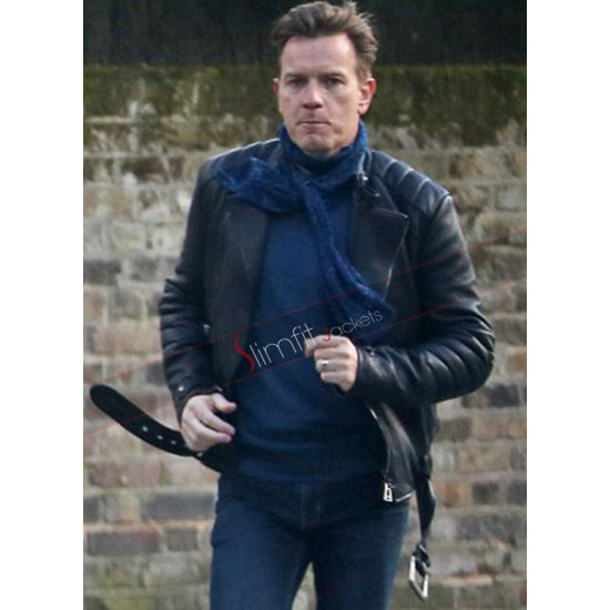 Ewan McGregor Mark Renton Biker Leather Jacket