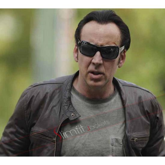 Rage Nicolas Cage Brown Leather Jacket