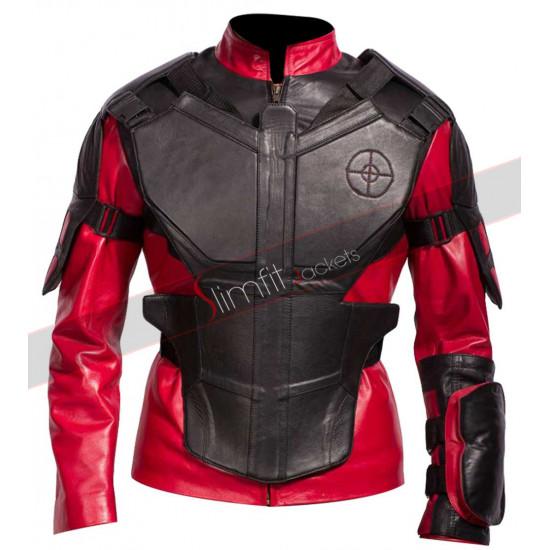 Suicide Squad Deadshot Armor Leather Jacket