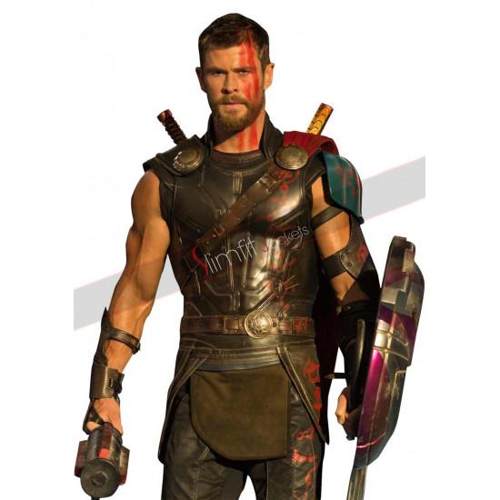 Chris Hemsworth Thor Ragnarok Leather Vest Costume