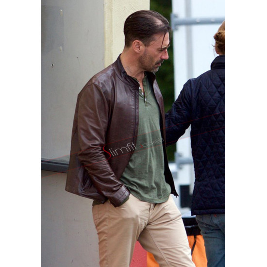 Baby Driver Buddy Brown Leather Jacket
