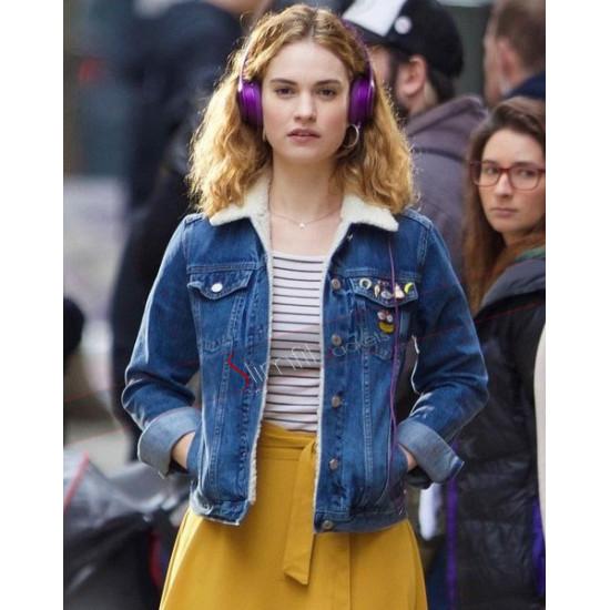 Baby Driver Lily James (Deborah) Fur Jacket