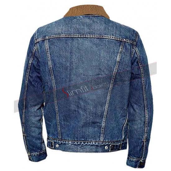 Spier Love Simon Nick Robinson Fur Sherpa Denim Jacket