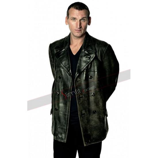 Christopher Eccleston Ninth Doctor Who Black Leather Jacket