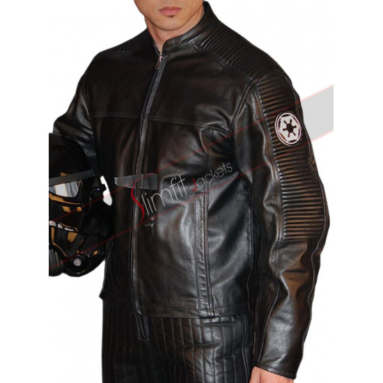 Star Wars Empire Emblem Racing Leather Jacket