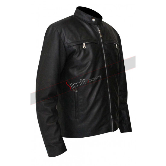 Alex Pettyfer Stormbreaker Leather Black Jacket
