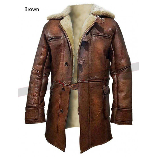 Dark Knight Rises Replica Bane Fur Trench Coat Men/Women
