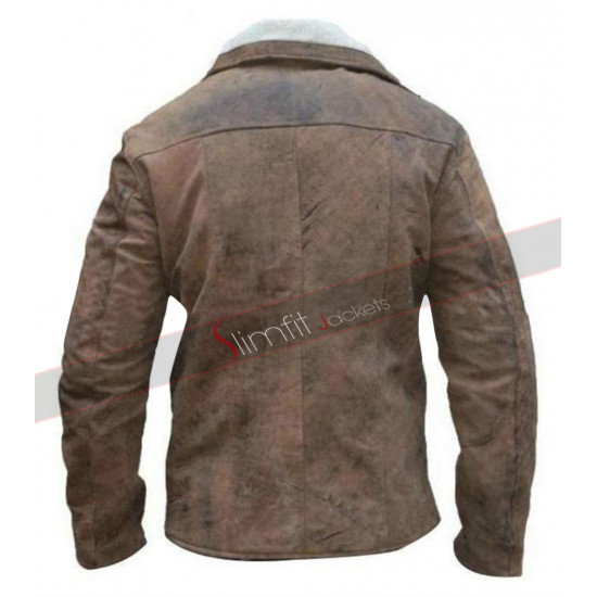 William B.J. Blazkowicz Wolfenstein Fur Brown Jacket